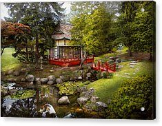 Architecture - Japan - Tranquil Moments  Acrylic Print by Mike Savad