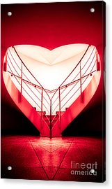 architecture's valentine - redI Acrylic Print by Hannes Cmarits