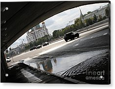 Archway Of Greater Stone Bridge In Moscow II Acrylic Print