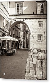 Archway Over Street Acrylic Print
