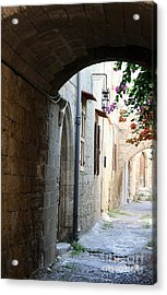 Archway Rhodos City Acrylic Print by Christiane Schulze Art And Photography
