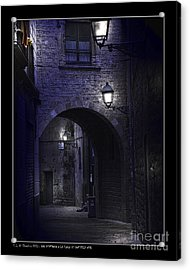 Archway To The Square Of St. Philip Neri's Acrylic Print by Pedro L Gili