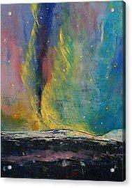 Arctic Lights Acrylic Print by Michael Creese