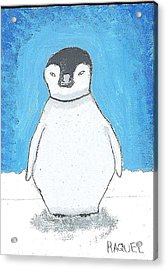 Arctic Penguin Acrylic Print by Fred Hanna