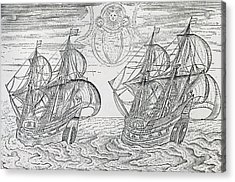 Arctic Phenomena From Gerrit De Veer S Description Of His Voyages Amsterdam 1600 Acrylic Print