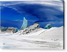 Arctic Pressure Ridge Acrylic Print by David Blank