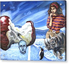 Arctic Soiree Acrylic Print by John Ashton Golden