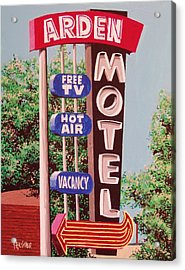 Arden Motel Acrylic Print by Paul Guyer