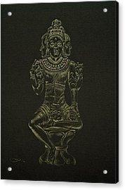 Acrylic Print featuring the drawing Ardhanarishvara I by Michele Myers