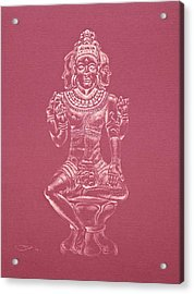 Acrylic Print featuring the drawing Ardhanarishvara II by Michele Myers