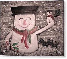 Are You Santa Acrylic Print by Rachel Carmichael