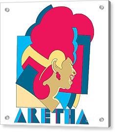 Aretha Franklin No.06 Acrylic Print