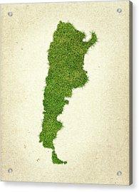 Argentina Grass Map Acrylic Print