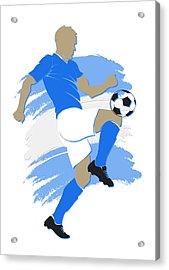 Argentina Soccer Player Acrylic Print by Joe Hamilton