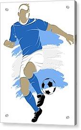 Argentina Soccer Player4 Acrylic Print by Joe Hamilton