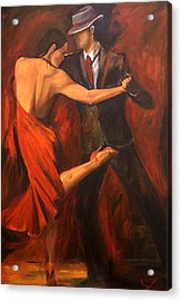 Acrylic Print featuring the painting Argentine Tango by Sheri  Chakamian
