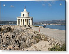 Acrylic Print featuring the photograph Argostolion Greece Lighthouse by John Jacquemain