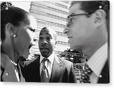 Arguing Business People Acrylic Print by Digital Vision.