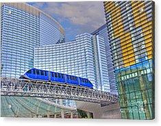 Aria Las Vegas Nevada Hotel And Casino Tram  Acrylic Print
