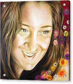 Ariana's Portrait Acrylic Print by Karina Llergo