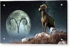 Aries Zodiac Symbol Acrylic Print by Daniel Eskridge