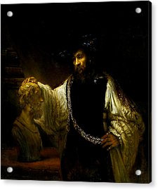 Aristotle Contemplating A Bust Of Homer Acrylic Print