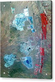 Arizona Copper Mine Acrylic Print by Nasa/gsfc/meti/ersdac/jaros, And U.s./japan Aster Science Team