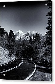 Arizona Country Road In Black And White Acrylic Print by Joshua House