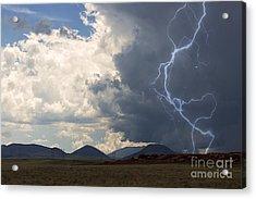 Arizona Desert Lightning  Acrylic Print