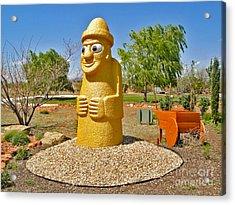Arizona Harubang Statue Acrylic Print by Gregory Dyer