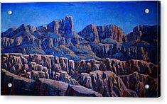 Arizona Landscape At Sunset Acrylic Print by Dan Terry