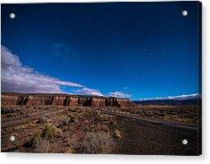 Arizona Mesa At Night Acrylic Print