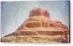 Arizona Mesa Acrylic Print by Jeff Kolker