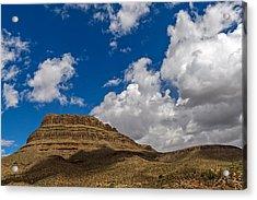 Arizona Mountain Under Blue Skies Acrylic Print by Willie Harper