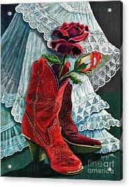 Arizona Rose Acrylic Print by Marilyn Smith