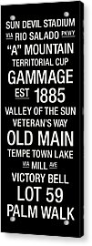 Arizona State College Town Wall Art Acrylic Print by Replay Photos