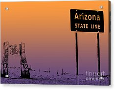 Arizona State Line Usa Acrylic Print by Janice Rae Pariza