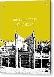 Arizona State University 2 - Hayden Library - Mustard Yellow Acrylic Print by DB Artist