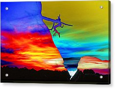 Arizona Sunset Collage Acrylic Print