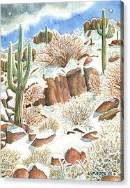 Arizona The Christmas Card Acrylic Print