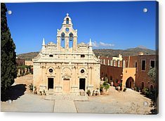 Arkadi Monastery In Crete Acrylic Print by Paul Cowan