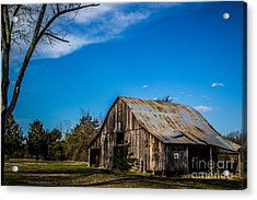 Arkansas Barn And Blue Skies Acrylic Print by Jim McCain