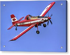Arkansas Razorbacks Air Tractor Acrylic Print by Jason Politte