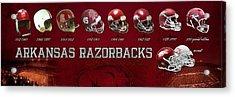 Arkansas Razorbacks Football Panorama Acrylic Print by Retro Images Archive