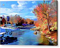 Arkansas River In Salida Co Acrylic Print