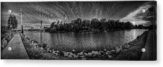 Arkansas River Panorama Acrylic Print by  Caleb McGinn