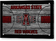 Arkansas State Red Wolves Acrylic Print by Joe Hamilton