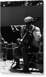Arkestra Cellist Uc Davis Quad Acrylic Print by Lee  Santa