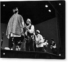 Arkestra Procession 1968 Acrylic Print by Lee  Santa