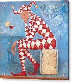 Acrylic Print featuring the painting Arlekin by Dmitry Spiros